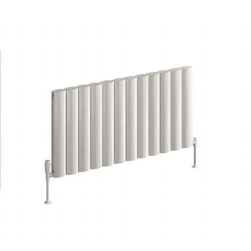 Reina Belva Single Horizontal Designer Radiator - 600mm High x 828mm Wide - White